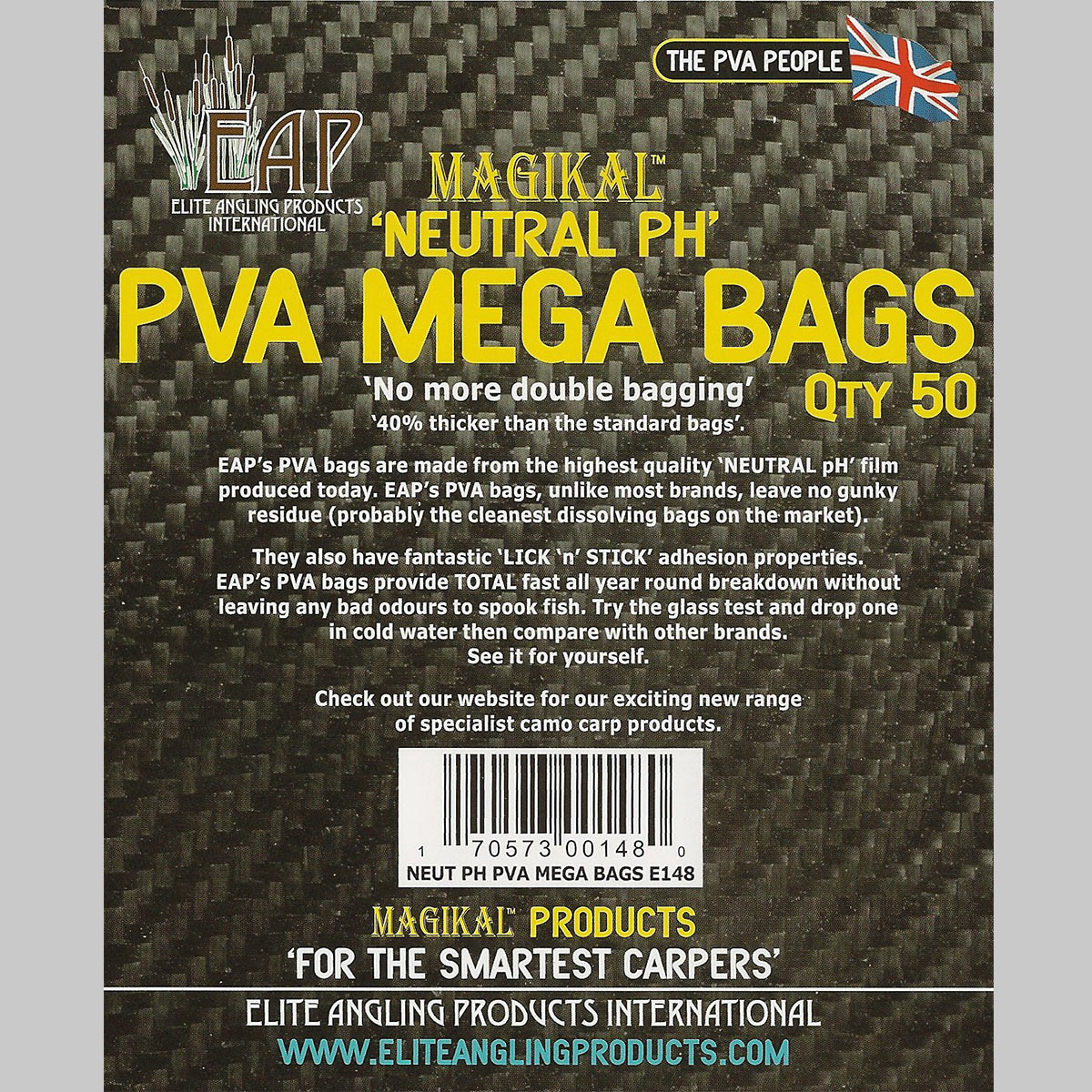 7c359479ac72 Mega Bags (Thick - 100x125mm) - 50 pack - EAP PVA Direct -